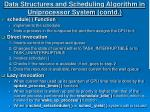 data structures and scheduling algorithm in uniprocessor system contd11
