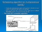scheduling algorithm for multiprocessor contd18