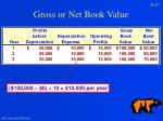 gross or net book value27