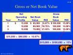 gross or net book value29