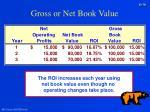 gross or net book value30