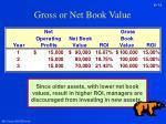 gross or net book value31