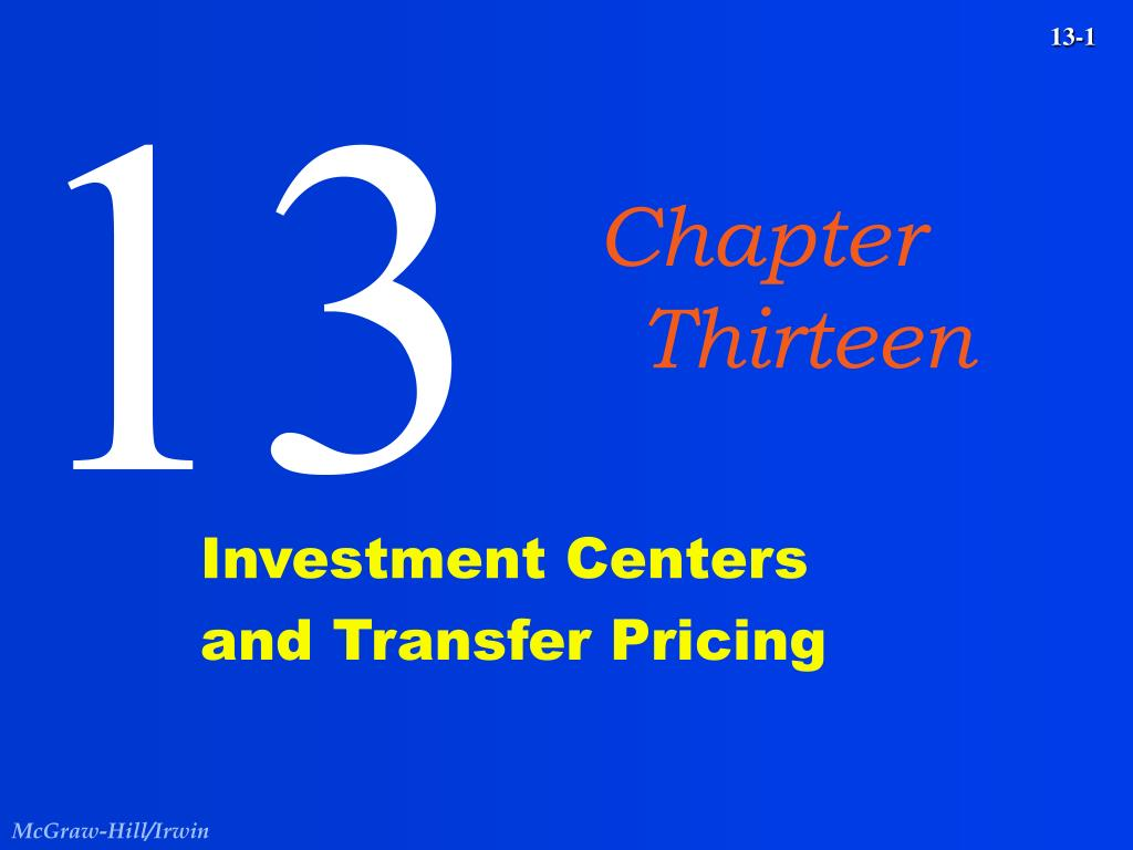 investment centers and transfer pricing l.