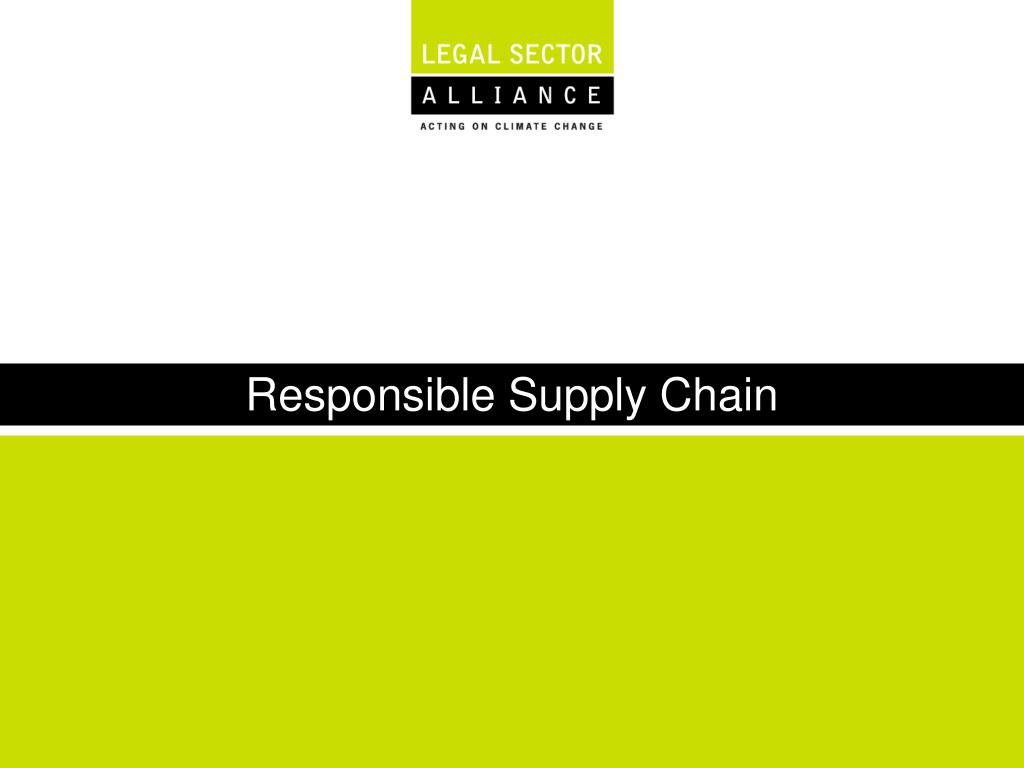 responsible supply chain l.