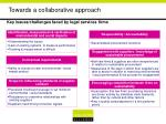towards a collaborative approach13