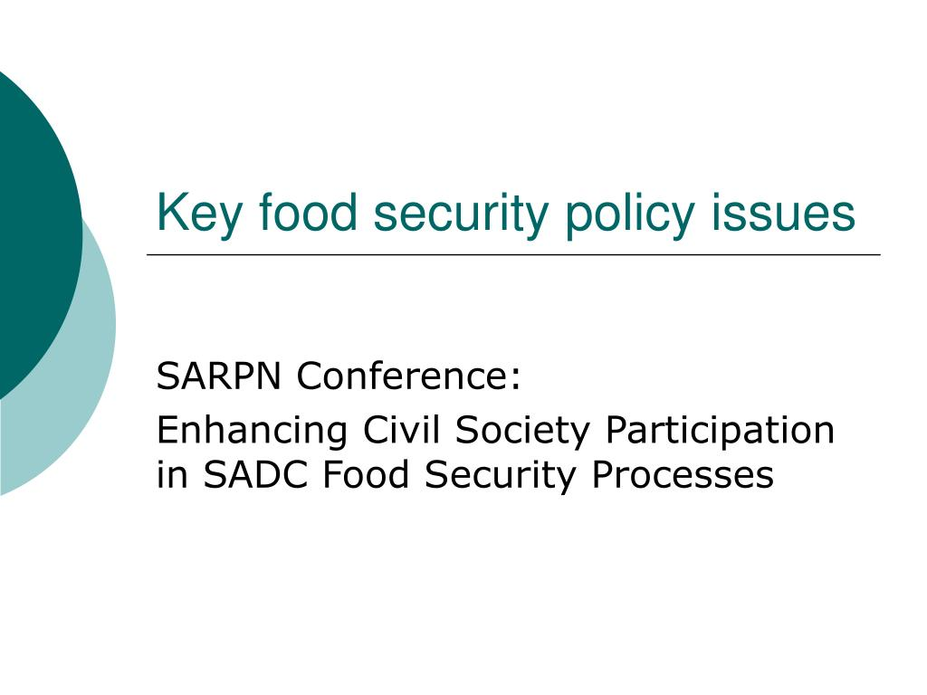 key food security policy issues l.