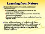 learning from nature