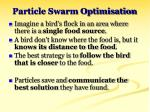 particle swarm optimisation32