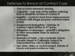 defenses to breach of contract case
