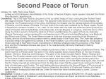 second peace of torun
