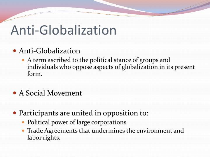 anti globalization movements list