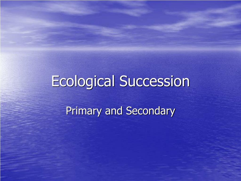 ecological succession l.