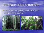 final stage climax community