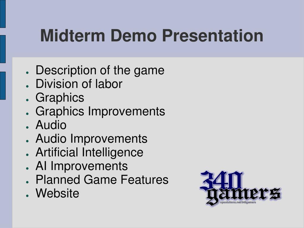 midterm demo presentation l.