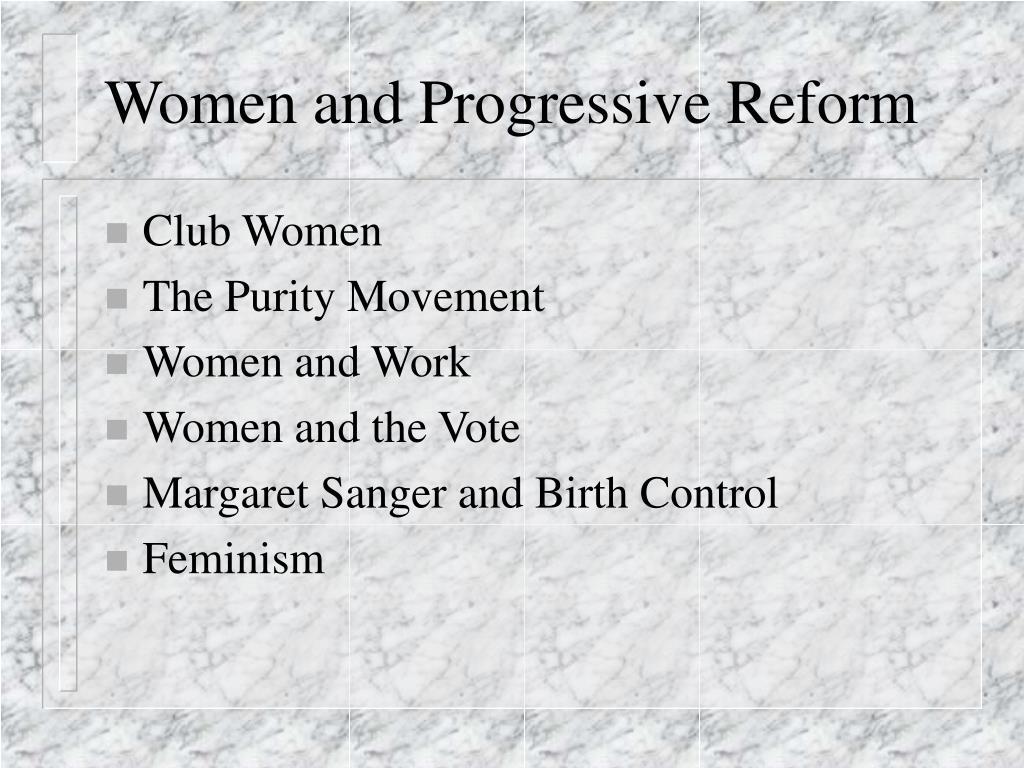 women and progressive reform l.