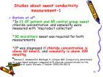 studies about sweat conductivity measurement 1