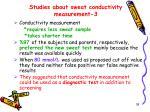 studies about sweat conductivity measurement 3