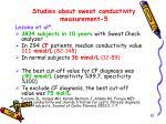studies about sweat conductivity measurement 5