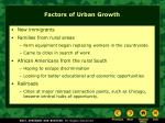 factors of urban growth