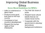 improving global business ethics13