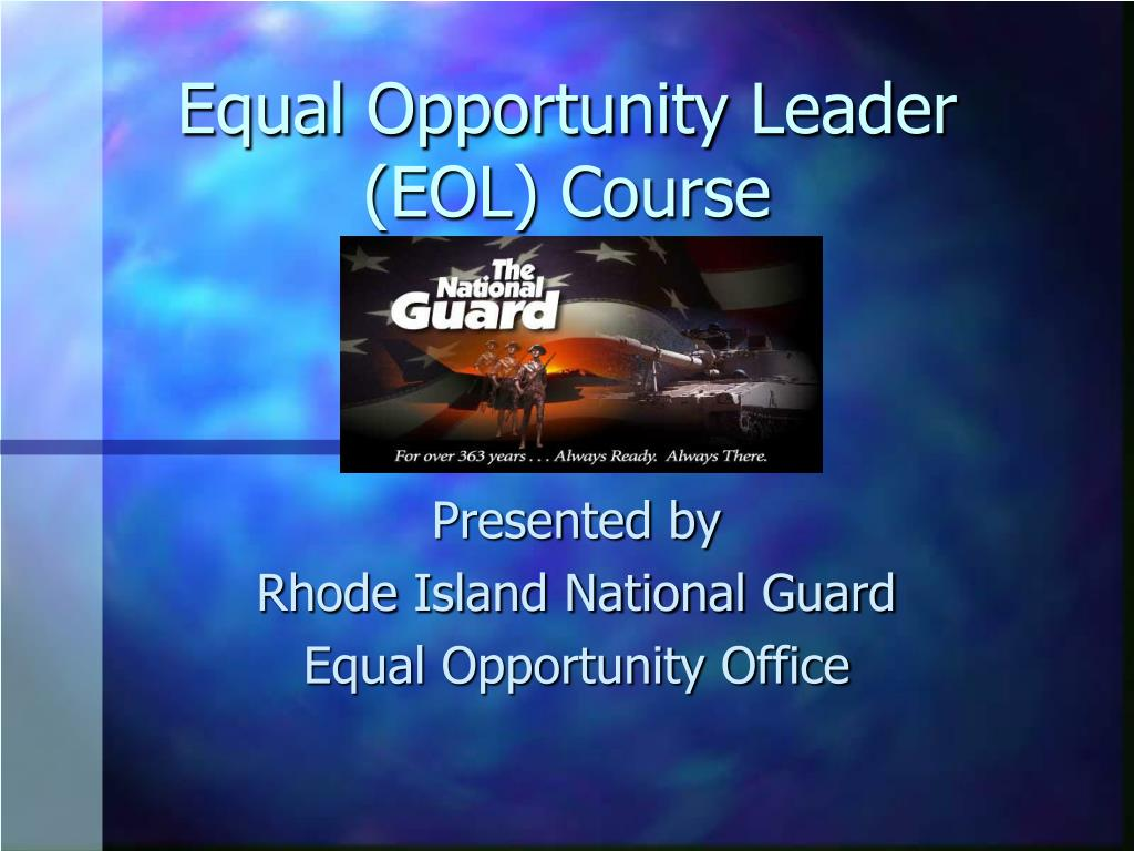 equal opportunity leader eol course l.