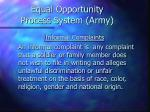 equal opportunity process system army