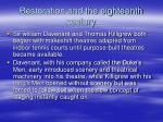 restoration and the eighteenth century