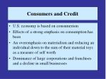 consumers and credit