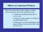 effects on american workers13
