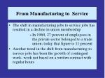 from manufacturing to service