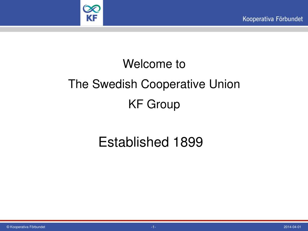 welcome to the swedish cooperative union kf group l.