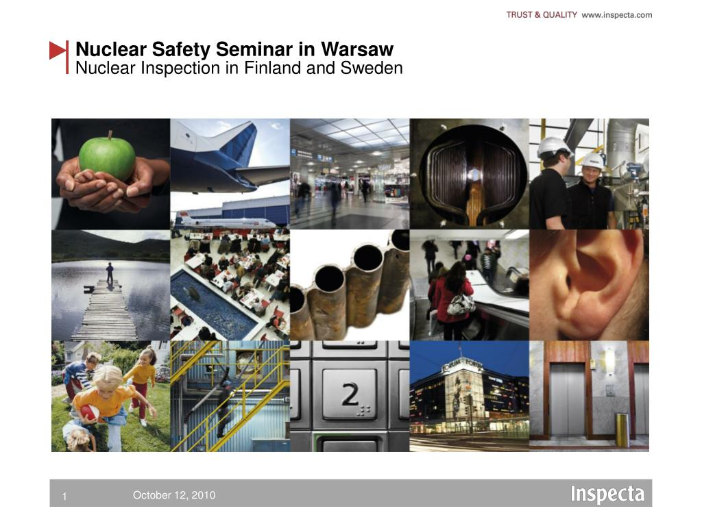 nuclear safety seminar in warsaw l.