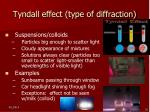 tyndall effect type of diffraction