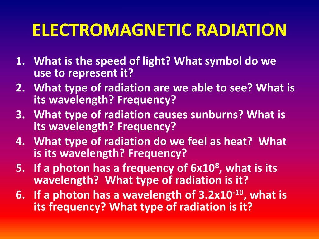 electromagnetic radiation l.