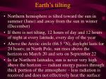 earth s tilting