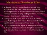 man induced greenhouse effect