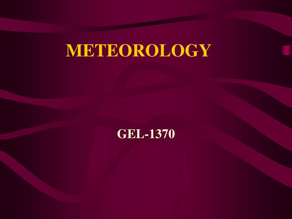 meteorology l.
