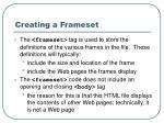 creating a frameset12