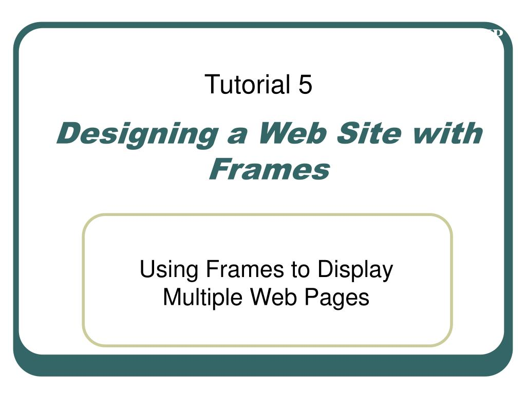 designing a web site with frames l.