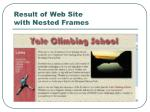 result of web site with nested frames