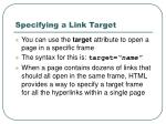 specifying a link target