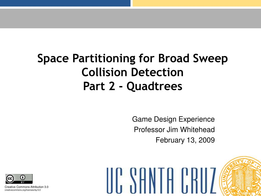 space partitioning for broad sweep collision detection part 2 quadtrees l.