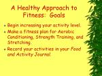 a healthy approach to fitness goals