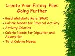 create your eating plan going further