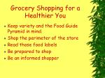 grocery shopping for a healthier you