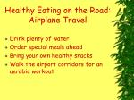 healthy eating on the road airplane travel