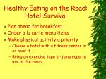 healthy eating on the road hotel survival