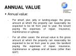 annual value