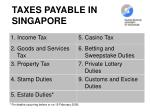 taxes payable in singapore
