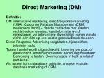 direct marketing dm